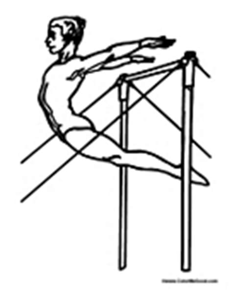 gymnastics bars coloring pages gymnastics coloring pages