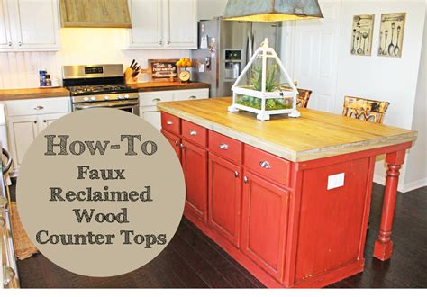 Faux Wood Countertops by The Ragged Wren How To Faux Reclaimed Wood Counter Tops
