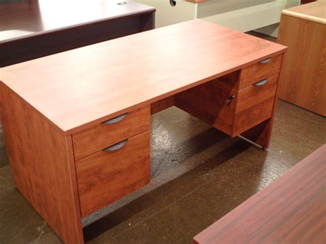 new cherry pedestal desk new used office