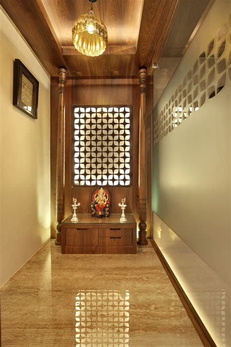 home temple design interior fusion design of apartment is aesthetically appealing