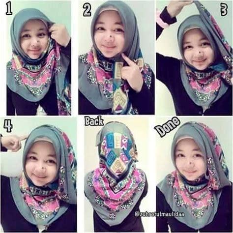 tutorial cara memakai hijab untuk wajah bulat 50 cara memakai kerudung terbaru dan modis update 2017 2018