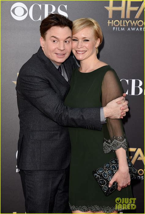mike myers family mike myers poses as dr evil at hollywood film awards 2014