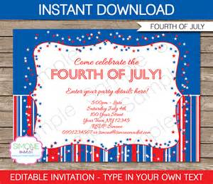 4th of july invitation templates fourth of july invitations template 4th of july