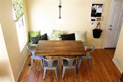 table for banquette breakfast nook with banquette seating