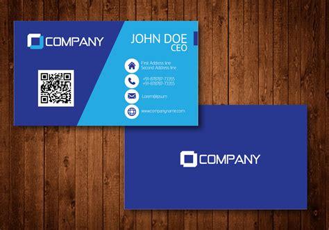 make visiting cards blue creative visiting card vector free vector