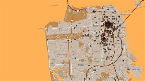 san francisco excrement map san francisco s syringe and human waste problem hotel