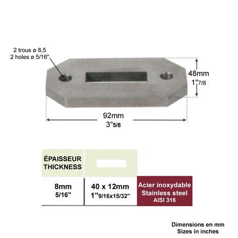 au section 316 platine de fixation inox 316 pour poteau de d 233 part inox