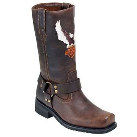 harley davidson harness 91001 s brown motorcycle boot