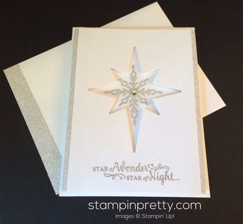 Glimmer Lights Sneak Peek Star Of Light Christmas Card Stampin Pretty