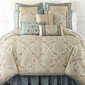 Cal King Bed Set Carlton Home Expressionstm Hill 7 Pc Jacquard Comforter Set