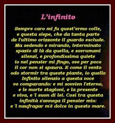 l infinito leopardi testo 1000 images about poesia on ios serum and