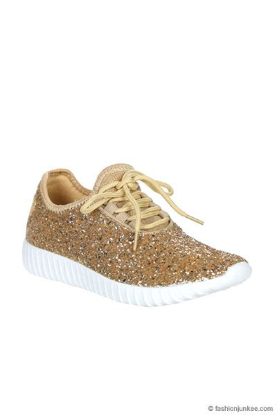 gold glitter shoes for lace up glitter sneakers gold