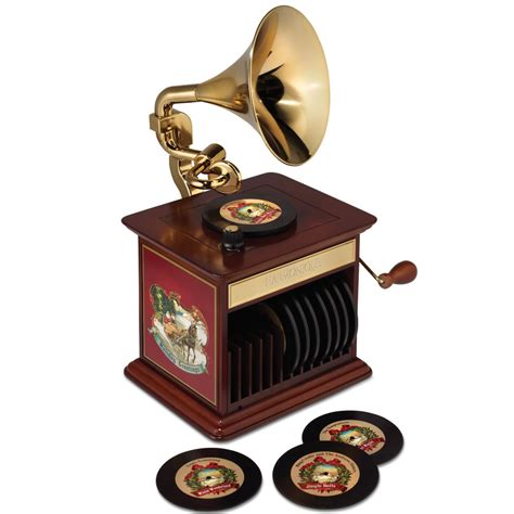 the classic christmas song gramophone hammacher schlemmer