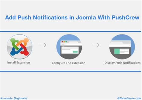 how to add template in joomla how to add push notifications in joomla with pushcrew