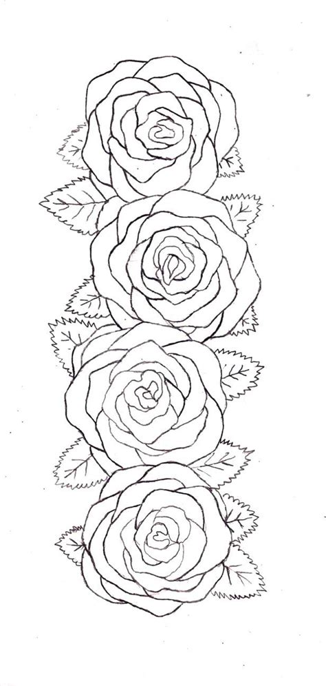 simple rose tattoo outline belt outline by destructiveentity on deviantart