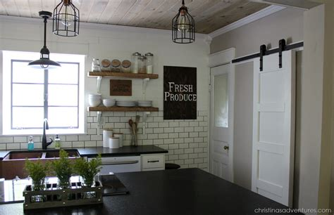 barn door kitchen pantry diy farmhouse kitchen makeover all the details