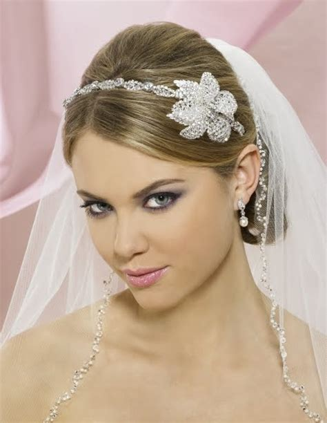 Wedding Hair With Veil And Tiara by Wedding Tiaras And Veils Wedding Hairstyles With Veil