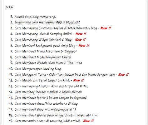 cara membuat daftar isi dari internet cara membuat daftar isi sitemap di blog christian tatelu