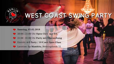 west coast swing calendar west coast swing party mit open class berlin loves west