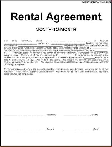 simple one page lease agreement template 4 simple one page rental agreementreport template
