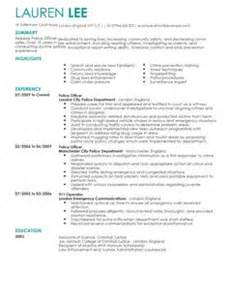 police officer cv example for emergency services livecareer