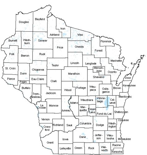 map of wisconsin counties worknet publications county profiles