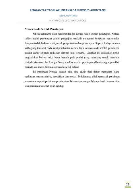 pembuatan ayat jurnal penyesuaian bertujuan agar setiap perkiraan makalah teori akuntansi jiantari c 301 09 013