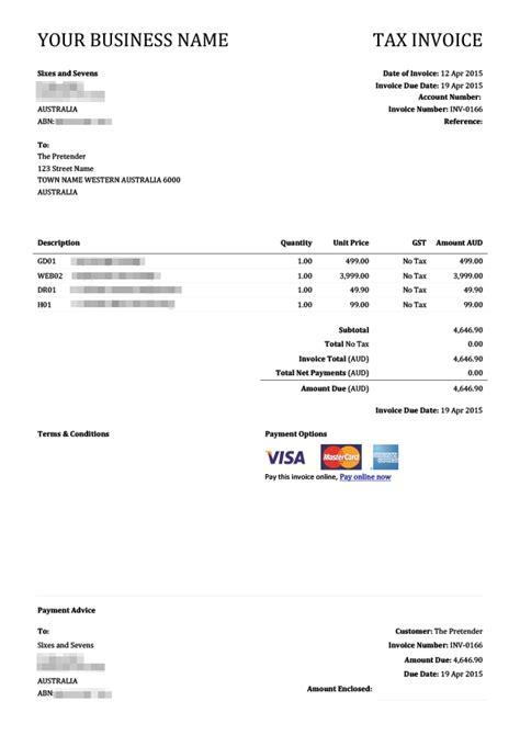 xero invoice templates xero invoice template invoice exle