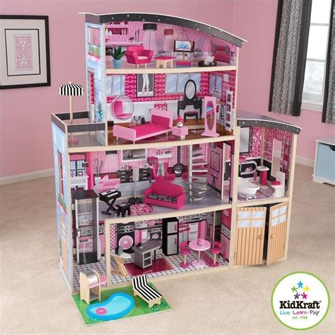 kidkraft barbie house kidkraft sparkle mansion dollhouse 65826
