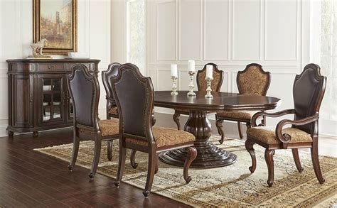 round formal dining room sets von furniture angelina formal dining room set with round to oval table