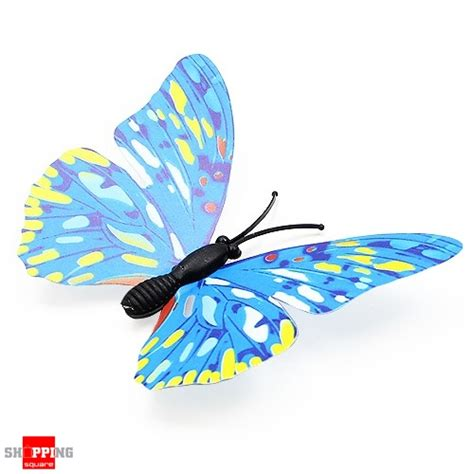 12pcs 3d stickers blue butterfly 12pcs 3d butterfly wall sticker for home decoration blue