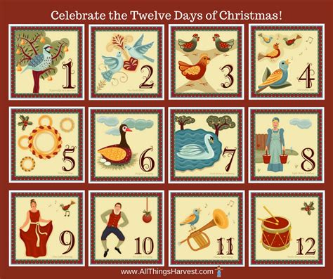 all things harvest christmas traditions twelve days of christmas history and celebration all