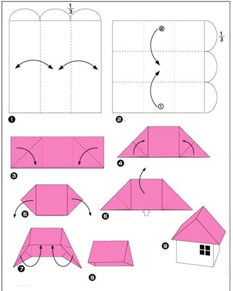 3d Origami Beginners - 3d origami huis voor beginners