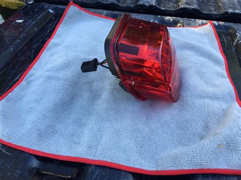 harley led tail light harley led layback tail light no window all red harley