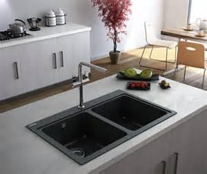 Fabulous Kitchen Designs Modernise With A Black Kitchen Sink
