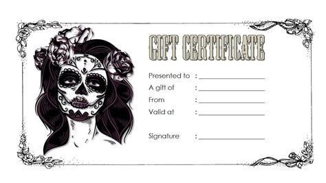 tattoo gift certificate gift certificate template professional and high