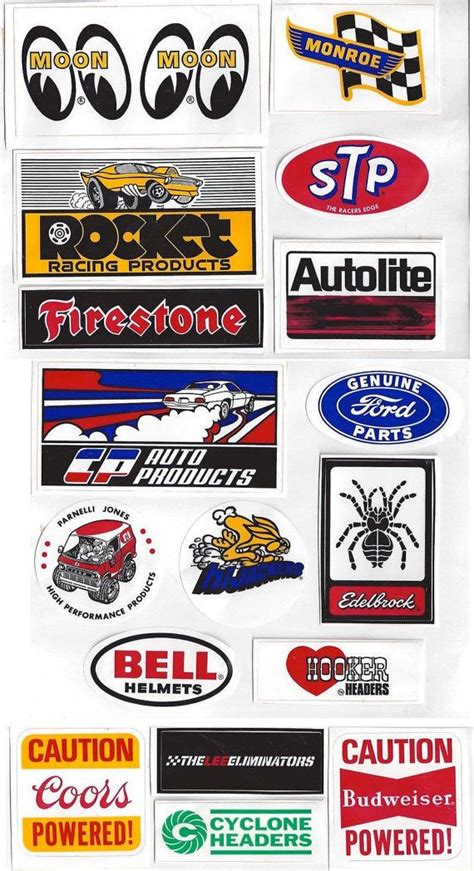 Racing Sticker Kit by Vintage Racing Decals Stickers 15 Moon Stp S