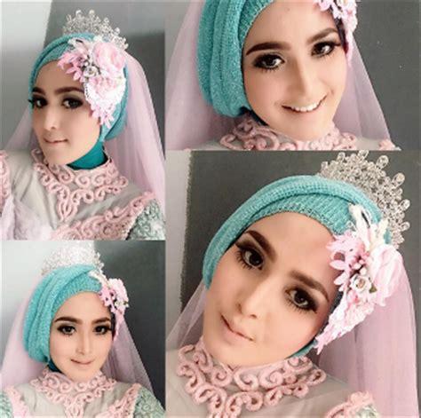 download tutorial memakai hijab pengantin cara mudah memakai model jilbab modern untuk kebaya terbaru