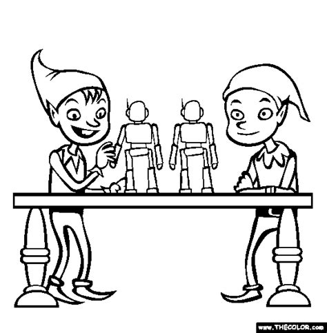 elves workshop coloring pages christmas online coloring pages page 1