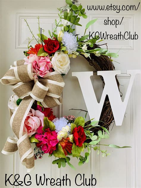 everyday wreath  front door year  wreath spring