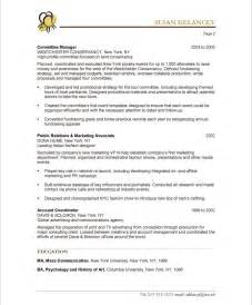 Event Consultant Sle Resume by Event Planner Page2 Non Profit Resume Sles Sky Resume And Blue