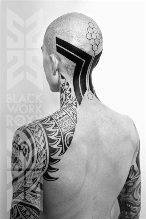 roxx tattoo black and sleeve by roxx design of