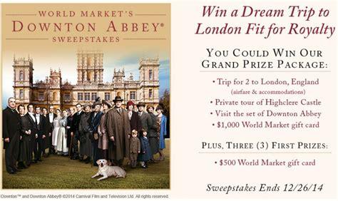 world market s downton abbey sweepstakes milesgeek milesgeek - World Market Downton Abbey Sweepstakes