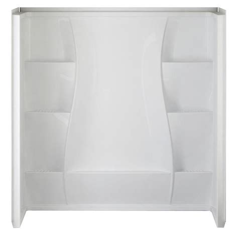 bathtub wall set 32 in x 60 in x 61 5 in 5 piece direct to stud tub wall