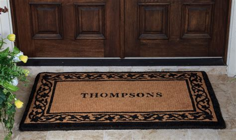 Personalized Front Door Mat Personalised Front Door Mats Personalized Rubber Scroll Coir Doormats Williams Sonoma