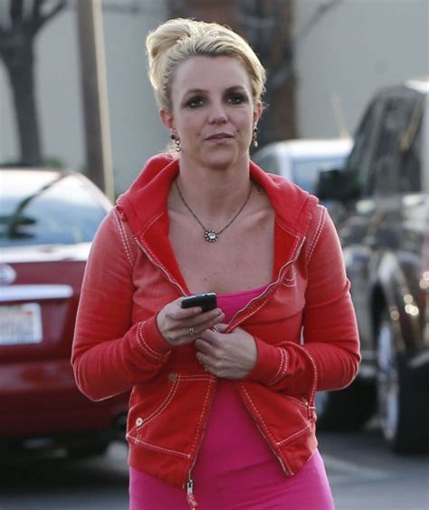 Britneys Wears Pink by Wear Tight Pink Top And Black 13
