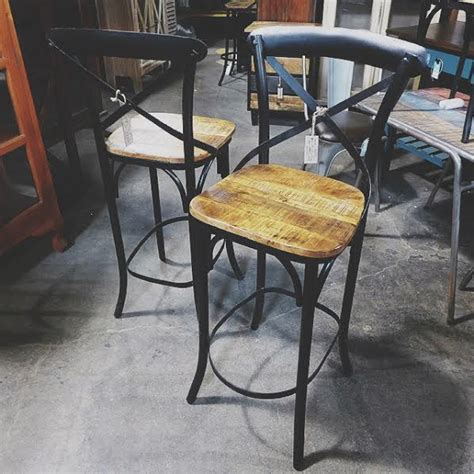 Bar Stools Birmingham by X Back Bar Stool With Wood Seat Nadeau Birmingham