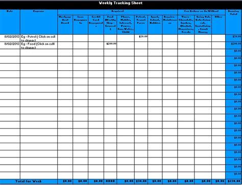 tracking sheet colleen s life coaching corner