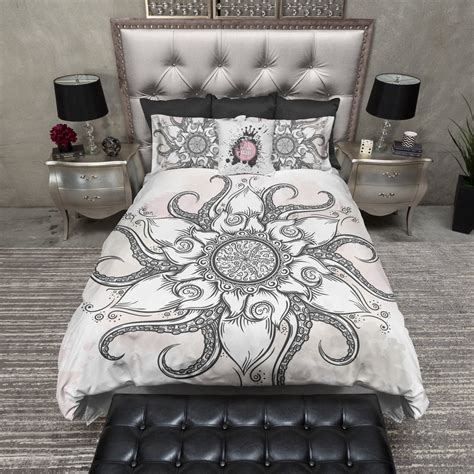 Octopus Bedding by Octopus Flower Mandala Bedding Ink And Rags