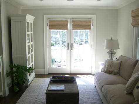 Blinds For Living Room by Window Treatments Doors Living Room With Bamboo Blinds Coastal Cottage